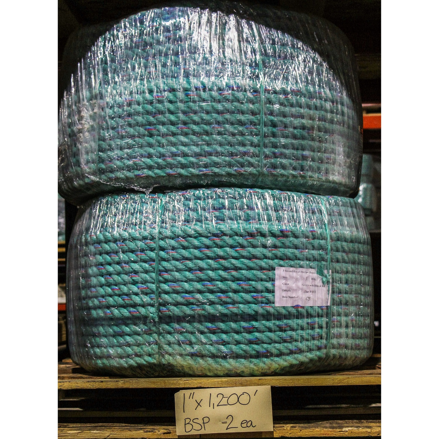 """1200/' Poly Pro Ocean Blue Sport Rope For Borders  3//8/""""  Fishing Line Crab Lines"""
