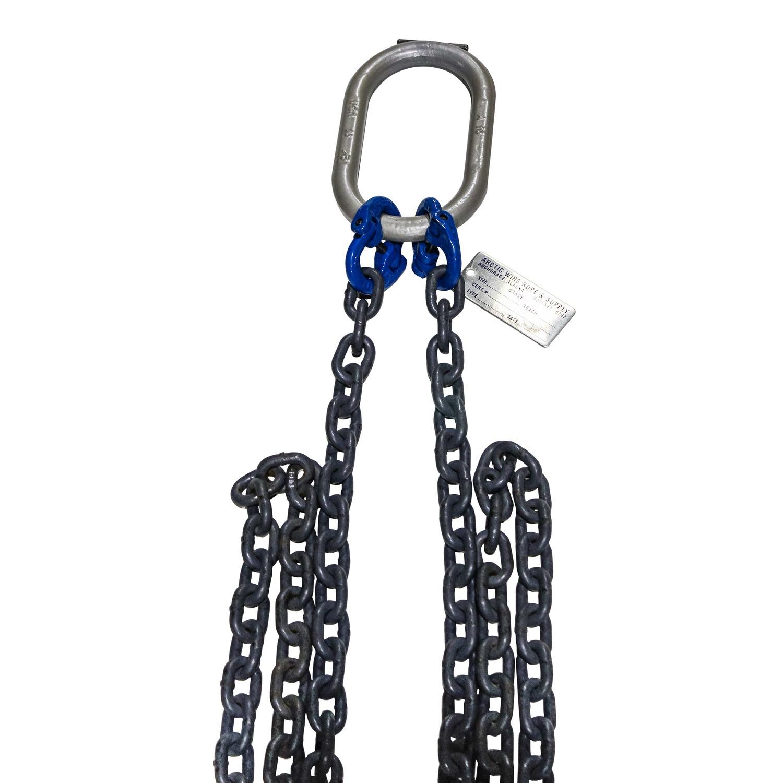 5/8″ Grade 10/100 Single Leg Alloy Chain Sling w/ Sling Hook ...